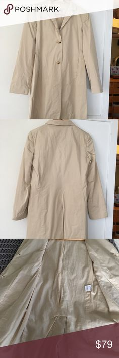 Jil Sander light beige trench coat jacket 34 0 xs Excellent condition. Poly exterior, cotton lining, made in Italy. Jil Sander Jackets & Coats Trench Coats