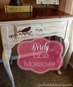 Birdy Sewing Table Makeover