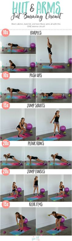 HIIT & Arms Fat Burning Circuit […] are going to finish the week with a BANG ladies! Finish up with your HIIT & Arms Fat Burning Circuit w. Body Fitness, Fitness Tips, Fitness Workouts, Fitness Quotes, Fitness Motivation, Arm Circuit Workout, Fat Workout, Strength Workout, Fat Burning Workout