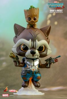 Hot Toys : Guardians of the Galaxy Vol.2 - Rocket, Groot & Yondu Cosbaby Bobble-head Collectible Set
