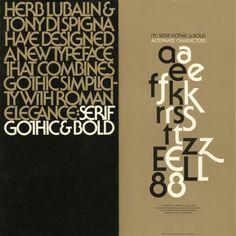 serif gothic type specimen