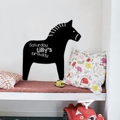 Chalk-Board Decal Dala Horse