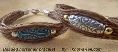 Horse hair bracelet Simple but elegant with silver by Knotatail