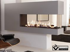 The Lucius 140 Room Divider is a stunning, frameless peninsula fireplace. Element 4 fireplaces focus on simple, contemporary design.   Simplicity in construction simplifies installation and maintenance. Simplicity in use guarantees a cozy and warm atmosphere in the home with literally just one push of a button. Finally, simplicity in design results in designs that do full justice to the unique beauty of the fire.