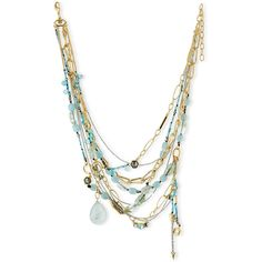 Alexis Bittar Golden Multi-Strand Mixed Crystal Necklace (1.815 BRL) ❤ liked on Polyvore featuring jewelry, necklaces, accessories, green, green necklace, 14 karat gold necklace, crystal stone necklace, golden necklace and multi layer necklace