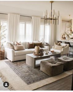 Cozy Living Rooms, Home Living Room, Living Room Designs, Living Room Decor, Living Spaces, Up House, Living Room Inspiration, Home Interior Design, Interior Styling