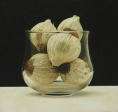 Garlics - Rafael de la Rica - 35x38 cm - Oil in Wood
