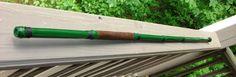 Green Kill Bill inspired bamboo walking stick