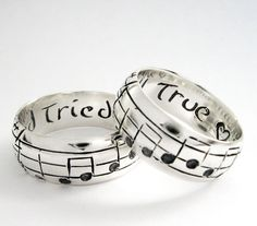 Your Song Wedding Rings  Any Song  One of a Kind by Myfavoritesong, $399.00