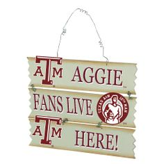 Texas A&M Hanging Fan Sign