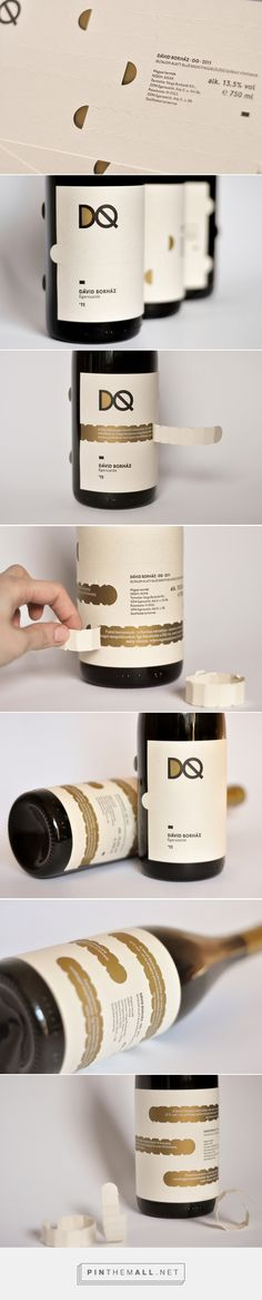 Hellodesign - DQ Wine Label Concept curated by Packaging Diva PD. Hungarian University of Fine Arts, Graphic Design degree program, project proposal.