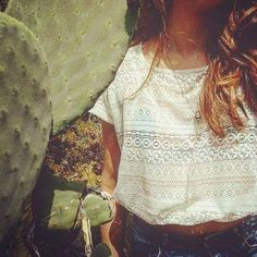 Lace your dreams, feed your soul and set it free. #lace top #bohemian style #white top #summer style #lace