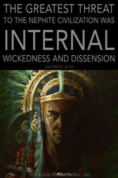 The Greatest Threat To Nephite Civilization Was Internal Wickedness And Dissension Family Scripture, Scripture Study, Lds Mormon, Mormon Faith, Lds Religion, Book Of Mormon Stories, Lds Seminary, Lds Books, Lds Scriptures