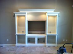 Missy, I thought about this for you & Andy! built in entertainment center