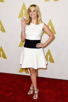 Reese Witherspoon in Giambattista Valli, Gianvito Rossi -  87th Annual Academy Awards Nominee Luncheon - February 2, 2015