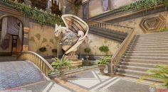 ArtStation - Dragon Age - Tevinter Imperium Inspired Courtyard, Meggie Rock