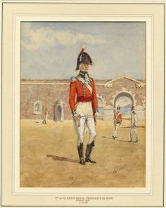 2nd or Queen's Royal Regiment of Foot. Officer, 1807