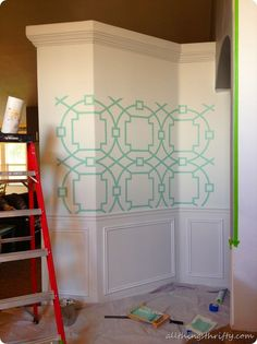 All Things Thrifty — How to make a HUGE stencil for CHEAP!