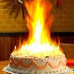 Birthday Cake On FIRE Happy Wishes For Him