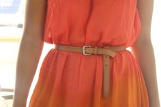 dress and the belt.