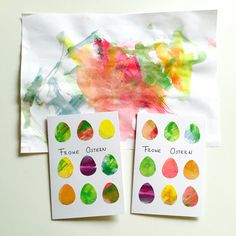 From children's art to Easter card - easy tinkering with children for Easter - Ostern Diy Easter Cards, Easter Crafts, Easter Art, Amusement Enfants, Diy And Crafts, Crafts For Kids, Presents For Her, Just Giving, Xmas Gifts