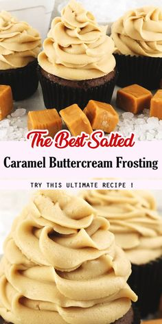 The Best Salted Caramel Buttercream Frosting - Trendswoman Köstliche Desserts, Best Dessert Recipes, Cupcake Recipes, Baking Recipes, Delicious Desserts, Yummy Food, Healthy Recipes, Oreo Dessert, Caramel Buttercream Frosting