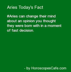 Aries Daily Fun Fact.
