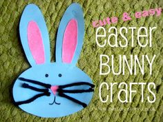 Cute & easy Easter bunny crafts: masks, recipe, egg decorating, junk model version, printing too.