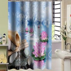 Great Magnificent Blooming Peony Pattern Dacron Shower Curtain On Sale, Buy  Retail Price Shower Curtains At Beddinginn.com | Bathroom | Pinterest |  Peony