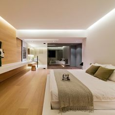 modern-interior-design-bedroom-space Source by Ceiling Design Living Room, Ceiling Light Design, False Ceiling Design, Living Room Designs, Cove Lighting Ceiling, Lighting Design, Modern Bedroom Design, Master Bedroom Design, Modern House Design