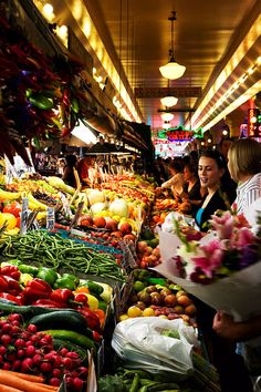 Take a walk in the Pike Place Market where you can buy fresh vegetables or a bouquet of fragrant flowers.