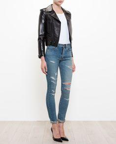 Saint Laurent   Distressed Jeans.