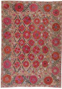 "kleidersachen:   Antique ""Suzani"" Uzbekistan 19th century via Marion"