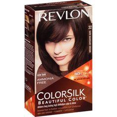 Revlon Colorsilk Beautiful Color Permanent Hair Color, 32 Dark Mahogany Brown