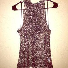 Sheer Sleeveless Top Leopard Print Sleveless Blouse Tops Blouses