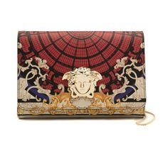 Pochette en cuir imprimé Ornamental Collection ligne Palazzo, 660 euros