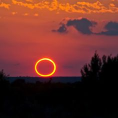Photo of the eclipse of the sun