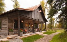 Tiny House Barn conversion--1,000-square-foot recreation barn includes a compact living and dining area with kitchenette for relaxing and entertaining.