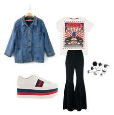 """""""#statementtshirt"""" by asiajfoster ❤ liked on Polyvore featuring Gucci and STELLA McCARTNEY"""