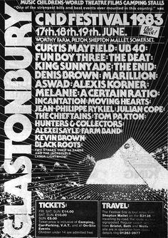 Glastonbury CND festival 1983