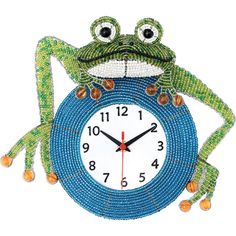 Fathers Day Gift Idea - Beaded Beadworx Clock, Frog| Grass Roots Creations