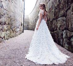 Abito con fiori matrimonio vestito 3d weding di AnnaSkoblikova