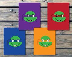 TMNT! Totally radical Teenage Mutant Ninja Turtles - Raphael, Leonardo, Donatello and Michelangelo.