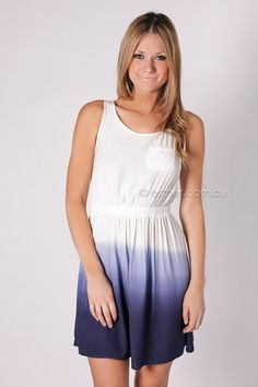 lagoon dress - blue/white