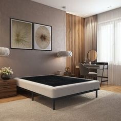 Alwyn Home Wood Box Spring Foundation Size: Twin XL, Height: Steel Bed Frame, California King Mattress, Canopy Frame, Upholstery Cushions, Bed Slats, Upholstered Platform Bed, Wood Beds, Headboard And Footboard, Bed Reviews