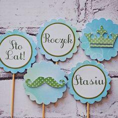 Piki do muffin wzór, dekoracje na słodki stół, dekoracje urodzinowe handmade, urodziny dziewczynki, urodziny dla chłopca