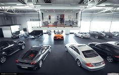 A Man Cave that OverLooks your Big Boy Toys