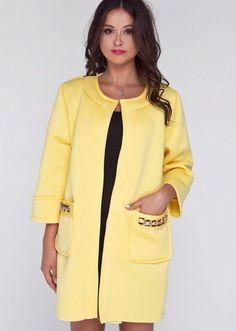 Пальто тренч неопрен Kanty желтое