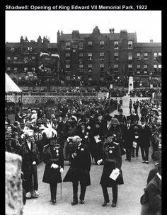 Opening of Shadwell Park Irish Catholic, Vintage London, East London, Back In The Day, Ancestry, Family History, Monochrome, Dolores Park, Nostalgia