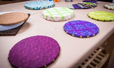Cristina Crafts: DIY Fabric Covered Bulletin Boards